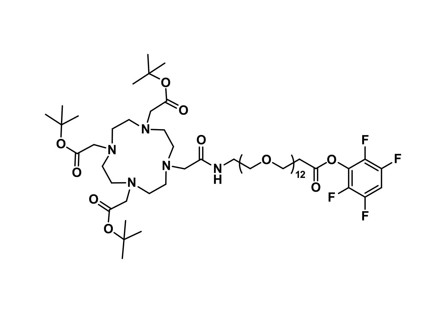 DOTA-tris(TBE)-amido-dPEG®₁₂-TFP ester